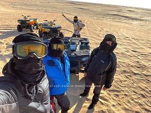 Circuit quad dans le désert à Douz. Tunisie