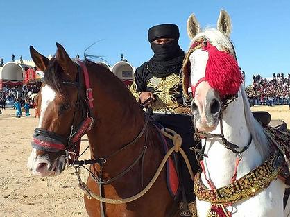 Cavalier du festival du sahara de Douz.