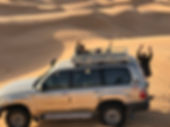 Le 4X4 dans le desert tunisien.JPG