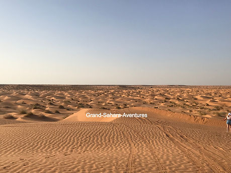 Désert à Ksar Ghilane, Tisava, Tunisie.j