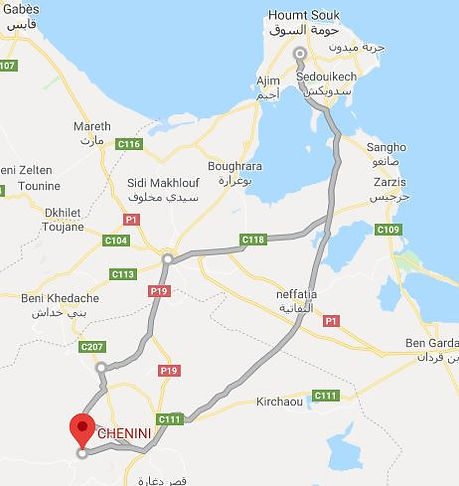 Excursion Djerba chenini. Map. JPG