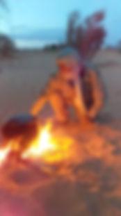 Bivoauc dans le désert tunisien.JPG