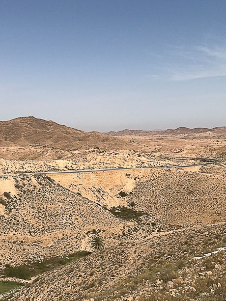 Circuit à Matmata, Tunisie