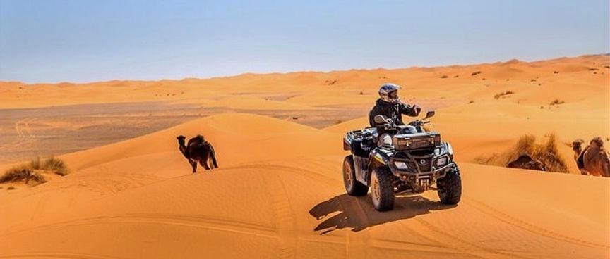 De Djerba balade à Dromadaires et quad dans le désert à Ksar Ghilane Tunisie