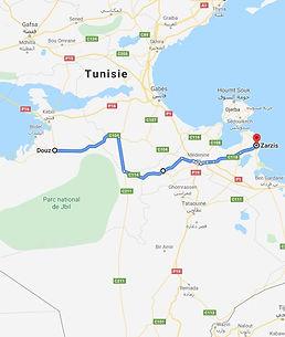 Zarzis réveillon de Noel dans le désert tunisien. Map.