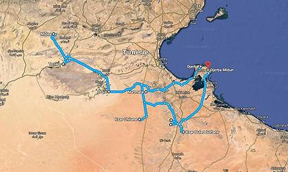 Carte du circuit sud Tunisien-Tunisie.jpg