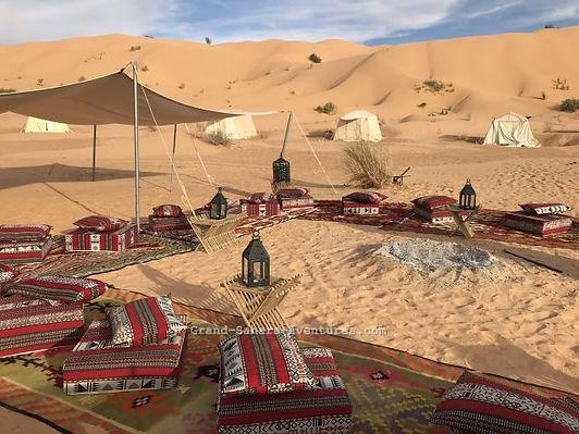 Réveillon du nouvel an dans le désert tunisien.