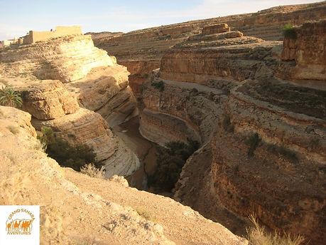 Le Canyon de Mides. de Zarzis à Tozeur. Tunisie.