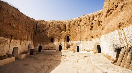 Matmata maison troglodyte.Tunisie