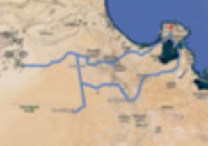 Carte du sud tunisie, Douz et Ksar Ghilane.JPG