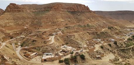 Paysage Berbère Gabes à Tataouine. Tunisie