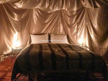 Campement pour le réveillon dans le désert Tunisien.
