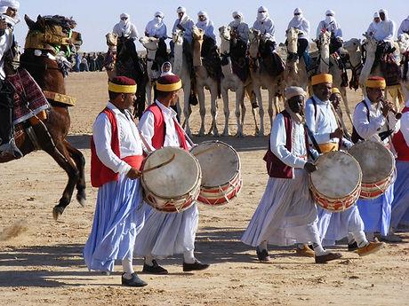 Musiciens du Festival du Sahara de Douz. Tunisie
