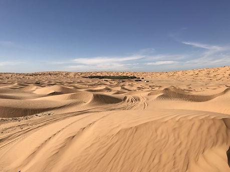 Le Lac Houidath Erreched, désert Tunisien.