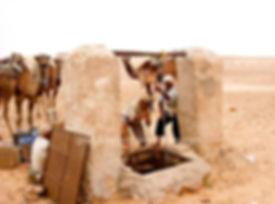 Abreuvoir à Dromadaires dans le désert Tunisien. jpg