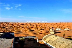 Excursion de Djerba à Ksar Ghilane au campement Zmela