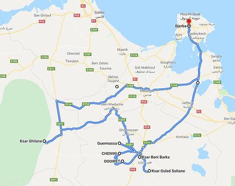 Djerba trek et Ksar Ghilane. Map.JPG