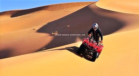 Djerba balade en quad dans le désert Tunisien