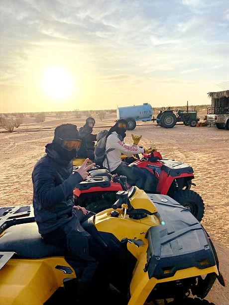 Raid en quad dans le désert Tunisien à Douz