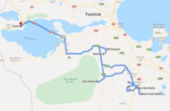 Tozeur trek et Ksar Ghilane. Map.JPG