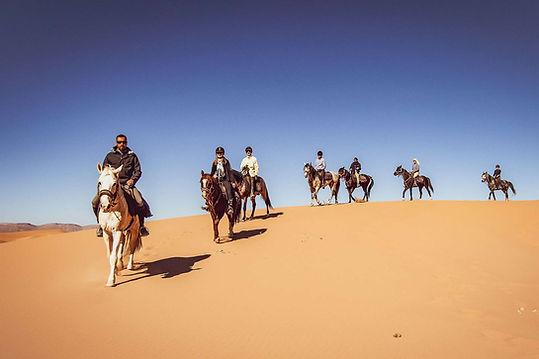 De Tozeur balade à cheval dans le désert.
