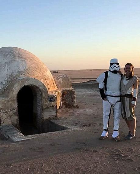 Igloo de star Wars et storm Trooper, Tunisie, chott el Gharsa.