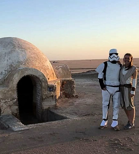 Igloo, la maison d'Anakin. Star Wars Tunisie.