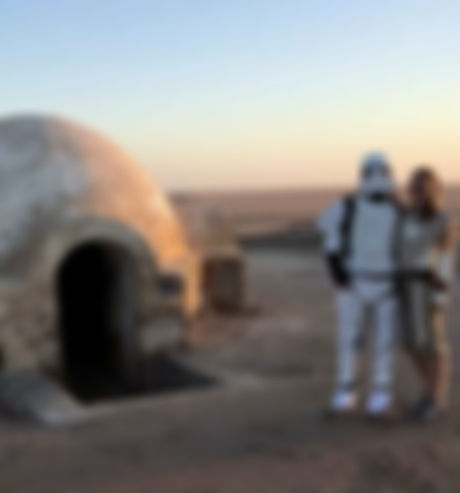 Igloo, la maison d'Anakin. Star Wars Tunisie. jpg