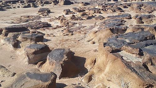 Paysage lunaire d'Ain Charchara. Tunisie. jpg