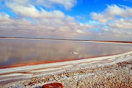 Lac de Zarzis, Sebkhet el Melah. Tunisie.