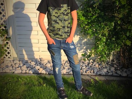 T-Shirt im Camouflagedesign