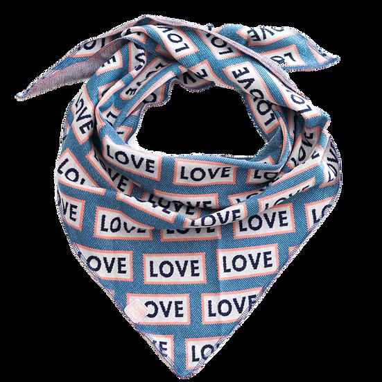 "Couture Designer Dreiecks-Tuch ""love"" - limitiert"