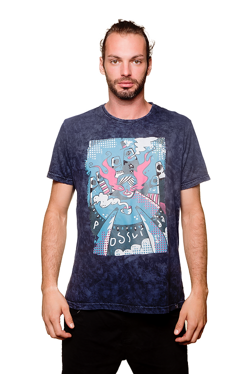 Camiseta Possuída Azul Estonada