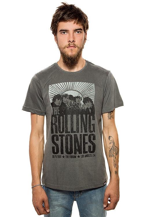 Camiseta Rolling Stones Cinza
