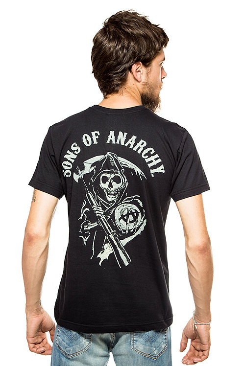 Camiseta Sons of Anarchy Preta