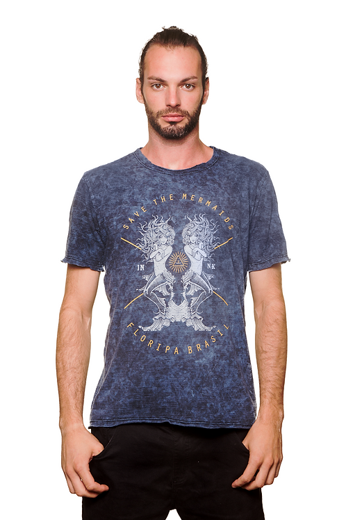 Camiseta Mermaids Azul Estonada