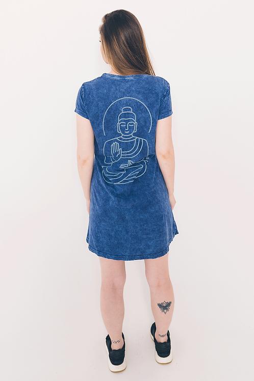 Vestido Estonado Buda Linhas