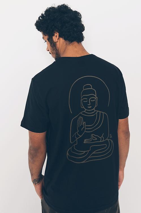 Camiseta Buda Linhas