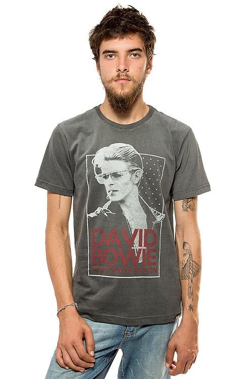 Camiseta David Bowie Cinza