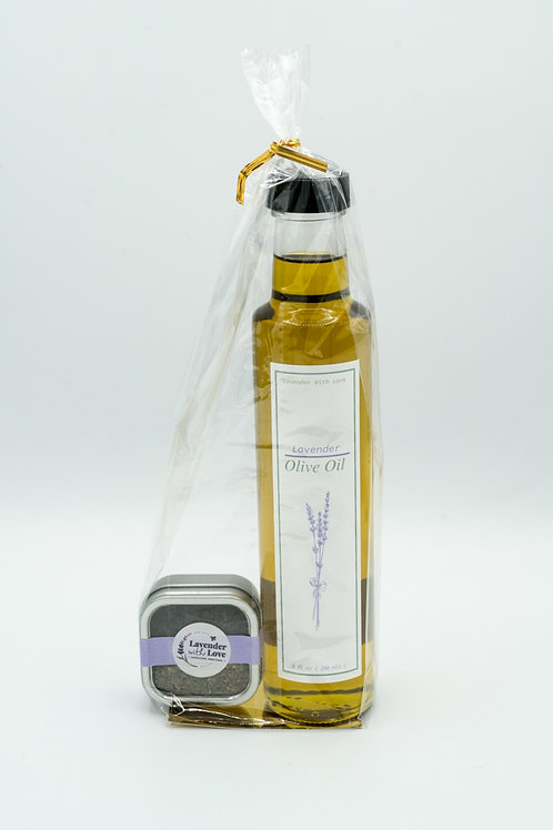Lavender Organic Extra Virgin Olive Oil Gift Set