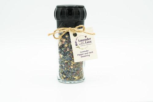 Lavender Pepper and Herb Seasoning