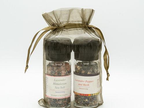 Lavender Salt And Pepper Seasoning Set