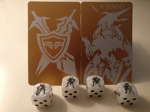 Golden MLB Dice and Quickshield Set