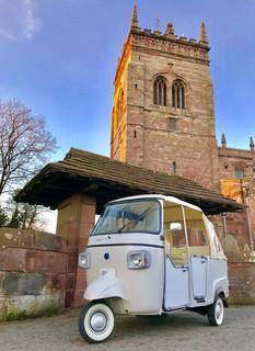 Wedding Car outside Acton Church