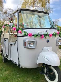 Wedding TukTuk with Pink Roses
