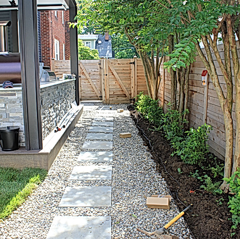 Water friendly stone pathway