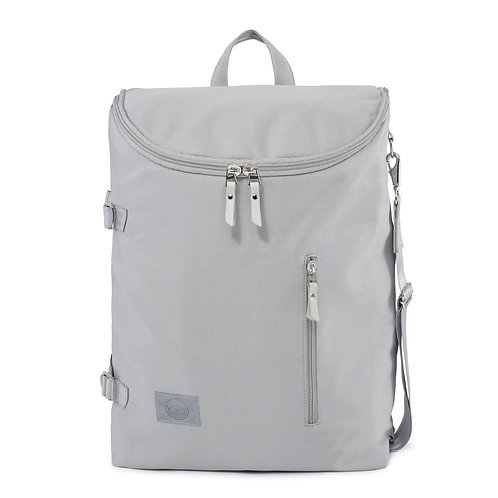 Grey ♻️ Recycled Polyester Diaper Backpack