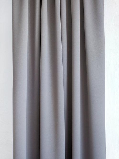 Design Blendik Ensfarget Grå/Brun skala