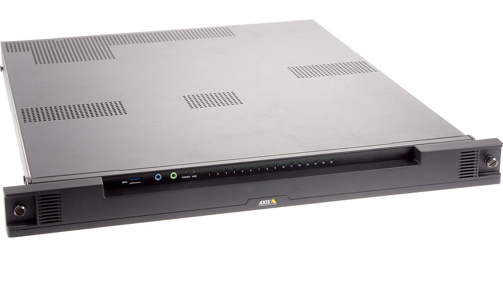 AXIS Netzwerk Video Recorder, 24 IP Kanäle, 12TB HDD, PoE Switch