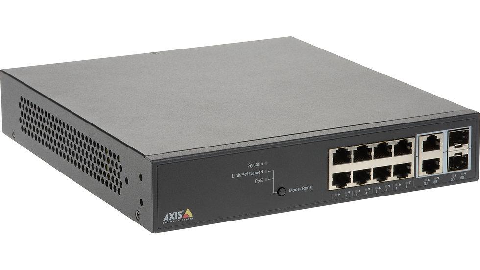 Axis POE + Netzwerk Switch, 8 Ports